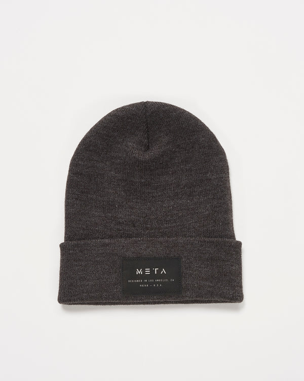 3M Reflective Patch Beanie Graphite