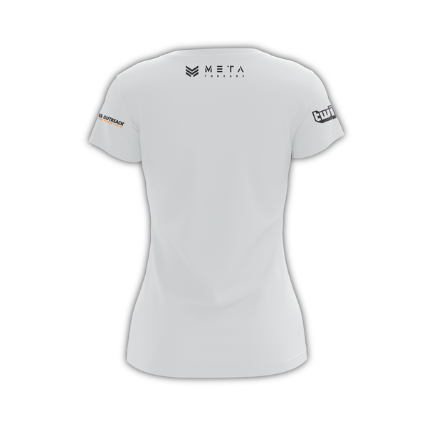 "Munch n Play Women's ""Basic White"" DryFit Tee"