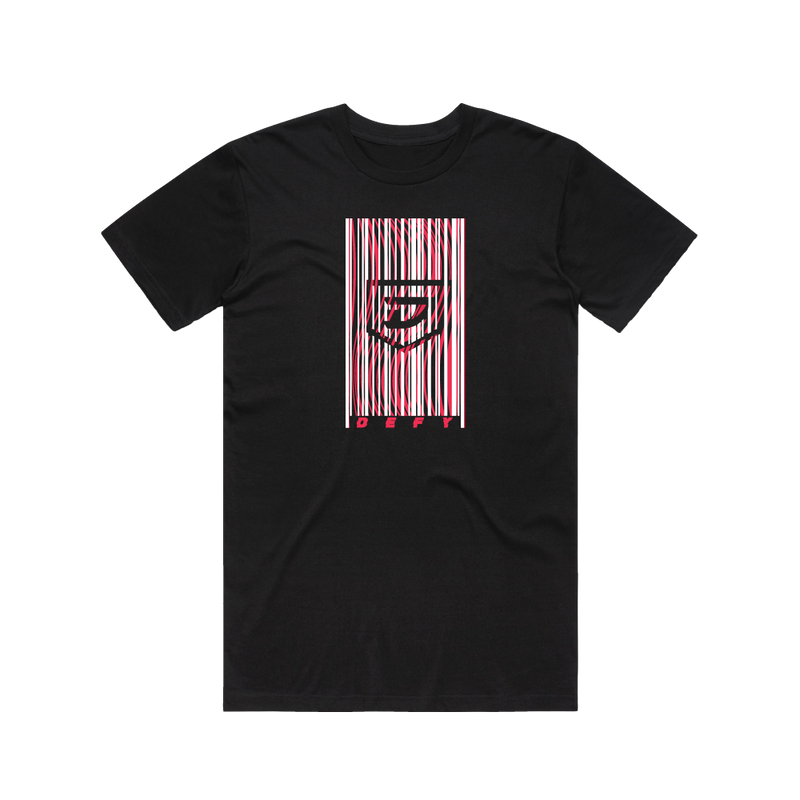 Defy 2020 Bar Code Black Tee