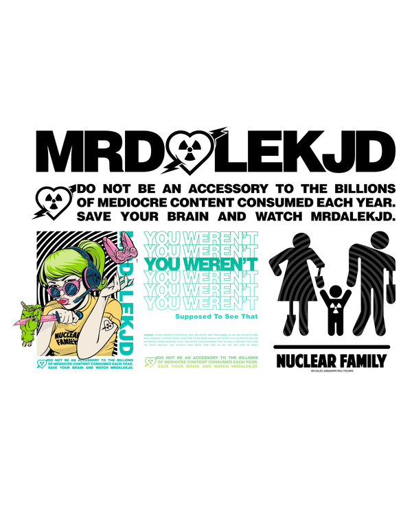 Nuclear Family Sticker Pack