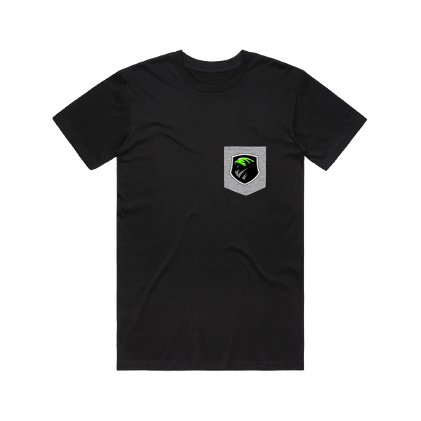 Boi's United Black Pocket Tee