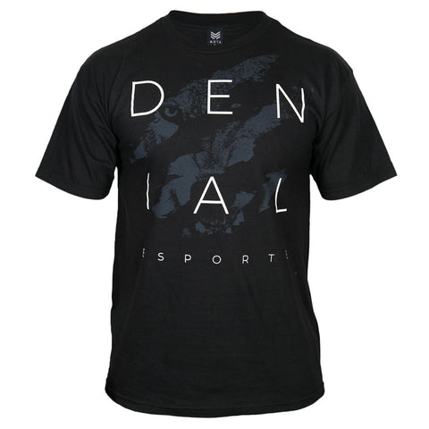 "Denial ""Claw"" Black Tee"