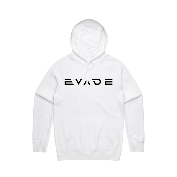Evade Logo White Pullover Hoodie