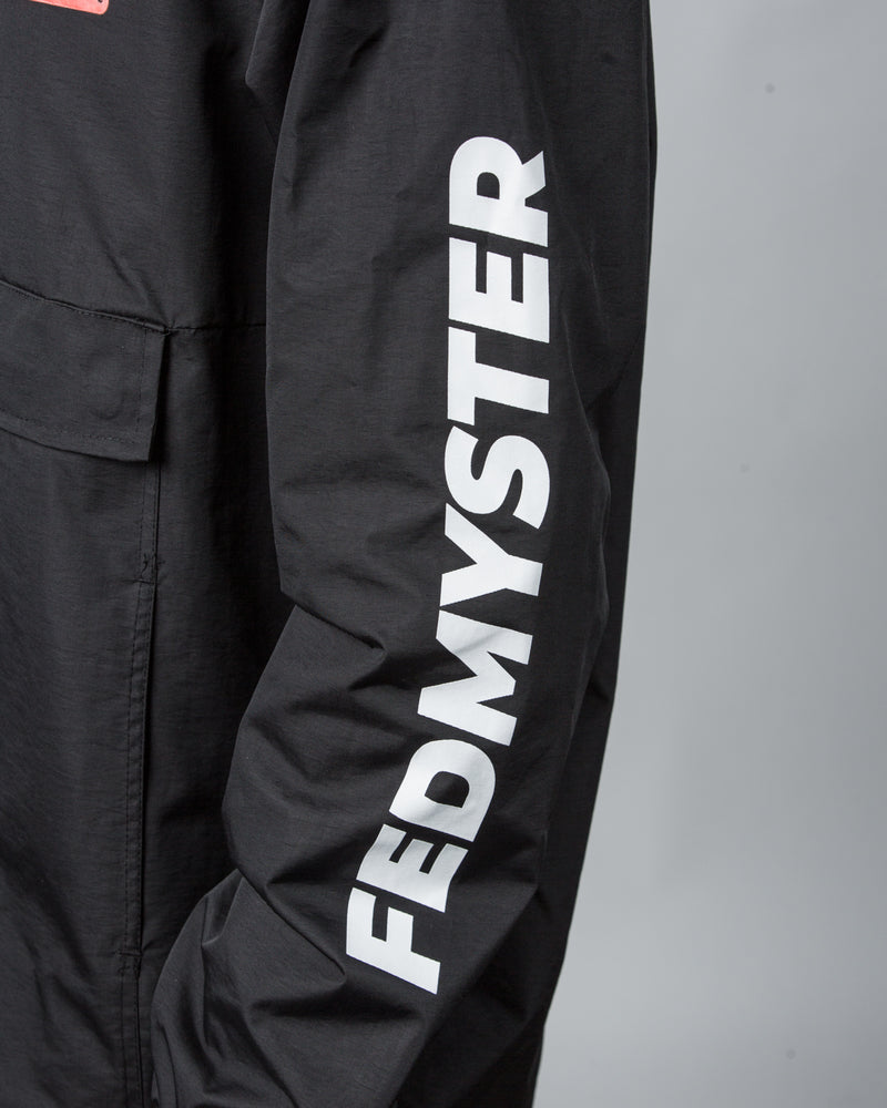 FEDMYSTER Black Windbreaker Jacket
