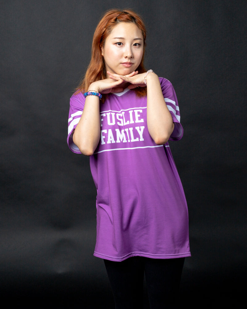 Fuslie Family Purple Dryfit Tee