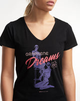 Graphene Dreams- Women's Black VNeck