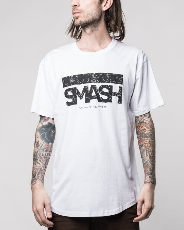 HKSmash SF White Tee
