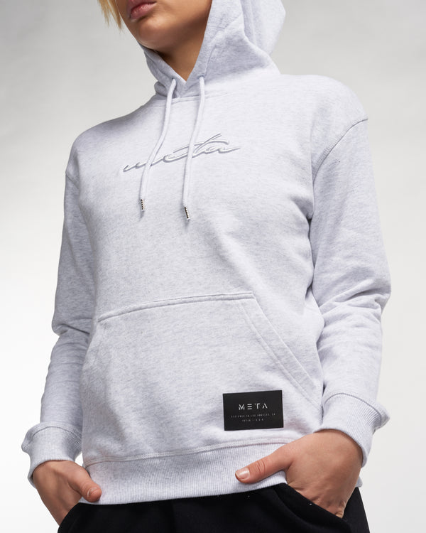 Women's Script Hoodie Heather Gray