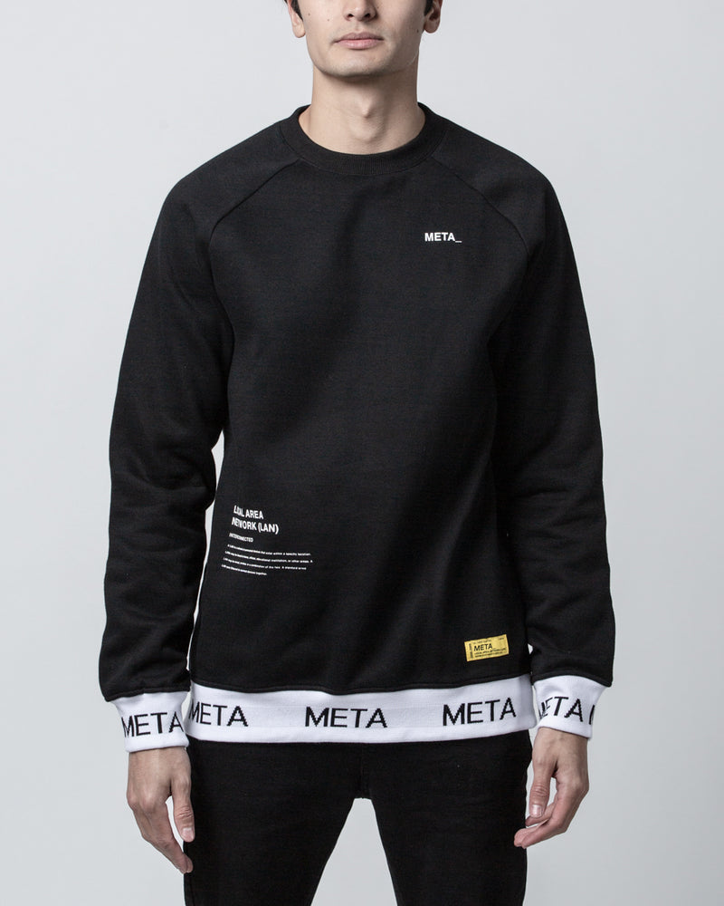 Hydra Crew Sweater Black
