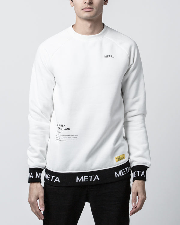 Hydra Crew Sweater White