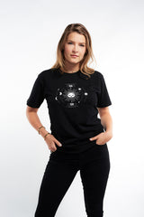 Kitty Astro Tee - Black