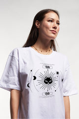 Kitty Astro Tee - White