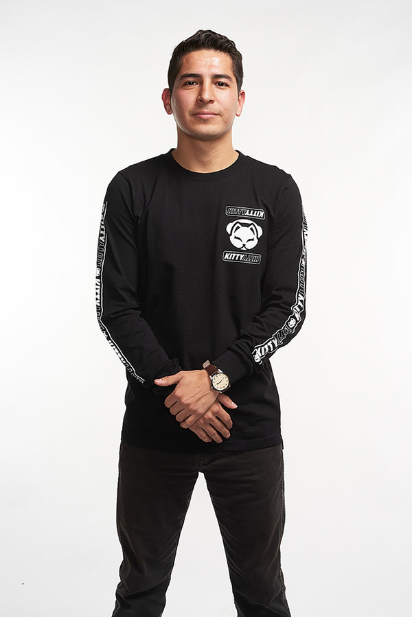 Kitty Team Long Sleeve - Black/White