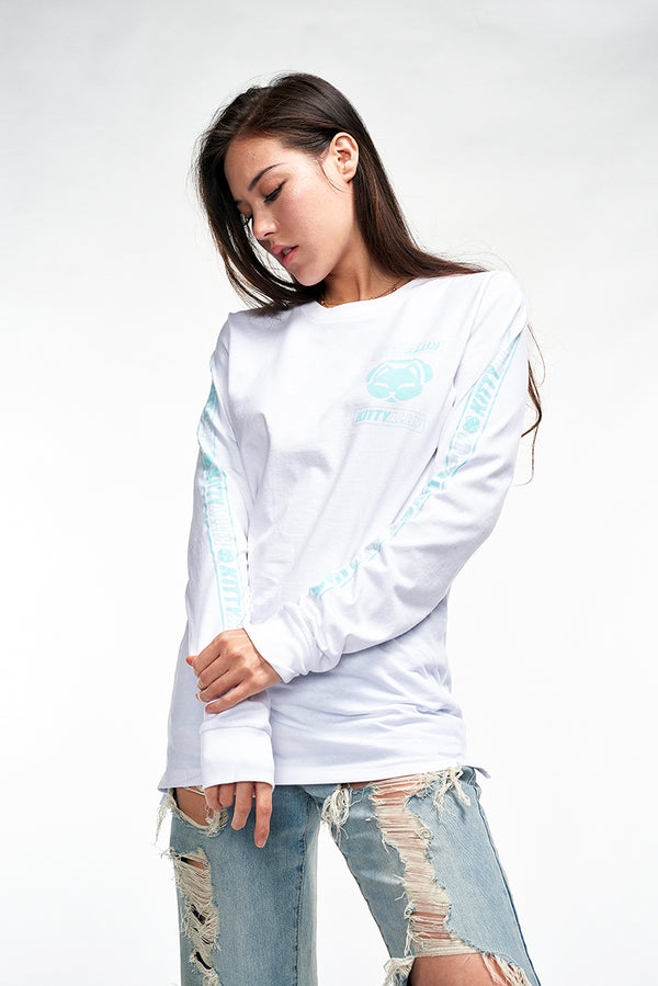 Kitty Team Long Sleeve - White/Blue
