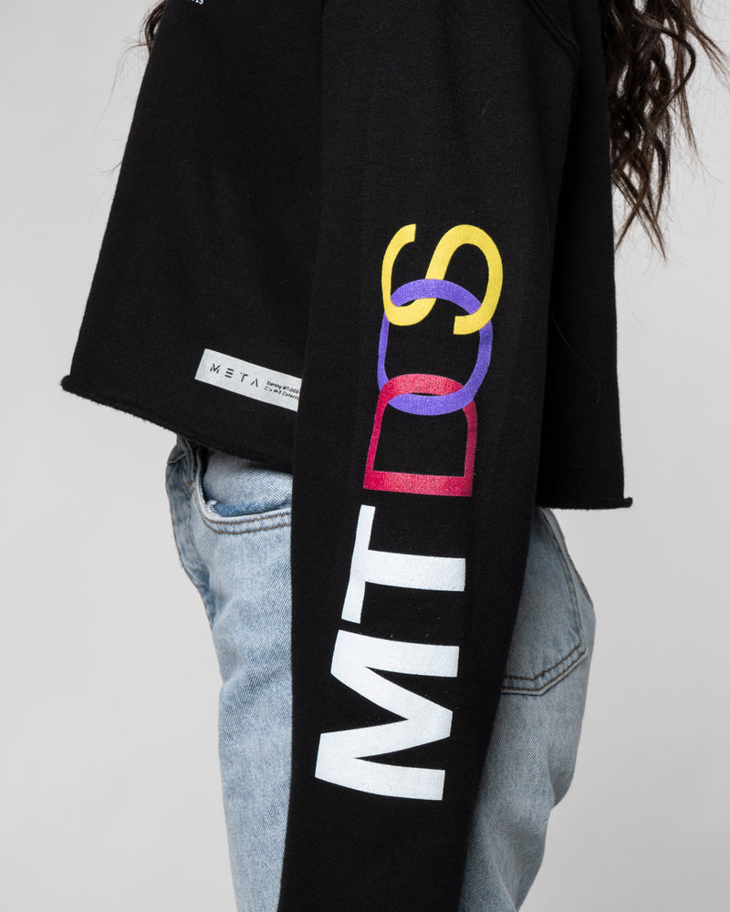 MT-DOS Interlock Female Crop Hoodie
