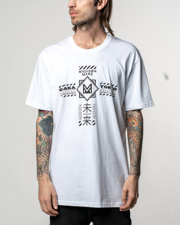 "Madison Mars ""Mirai"" White Tee"