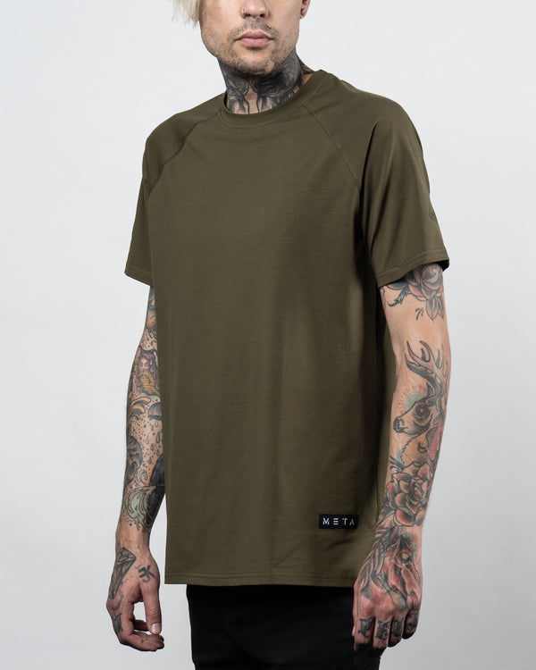 Premium Drop Tee Army Green