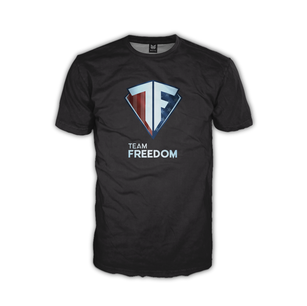 "Team Freedom ""Basic Black"" DryFit Tee"