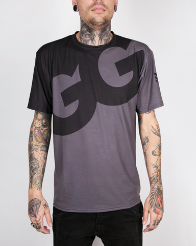 "Meta Threads ""GG"" Blk/Gry DryFit Tee"