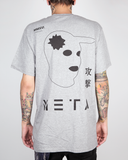 "Meta Threads ""Head Shot - Gray"" Tee"