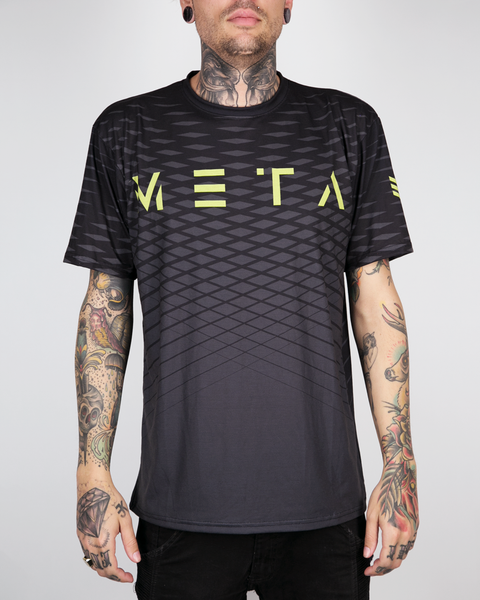"Meta Threads ""Waves"" Black DryFit Tee"