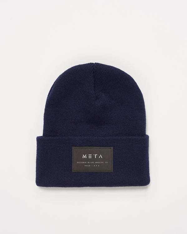 3M Reflective Patch Beanie Navy