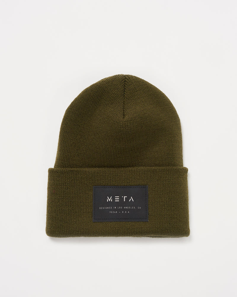 3M Reflective Patch Beanie Olive