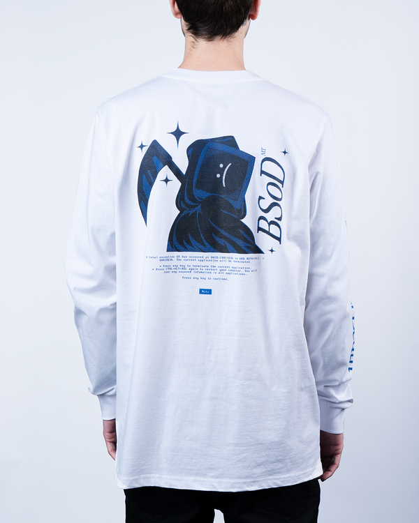 BSoD  PC Death White Longsleeve