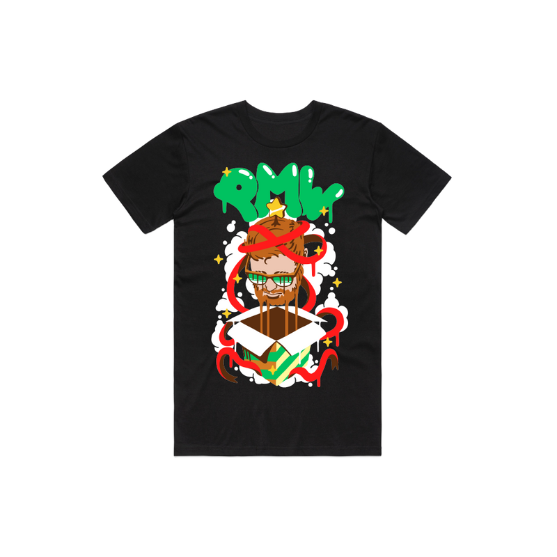 "PMW ""Pleasant Holiday"" Black Tee"