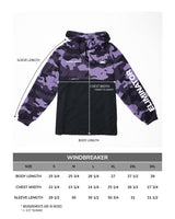 QueenEliminator Purple Camo Windbreaker