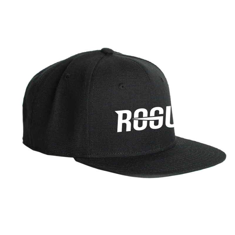 Rogue Black Flat Bill Snapback