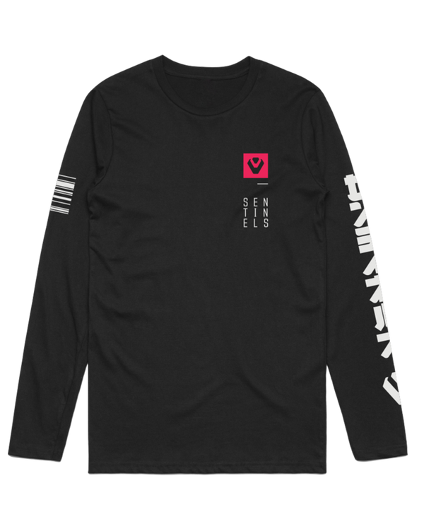 "Sentinels ""Roboto"" Long Sleeve Black Tee"