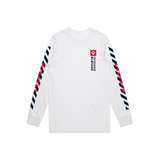 "Sentinels ""Barcode"" Long Sleeve White Tee"