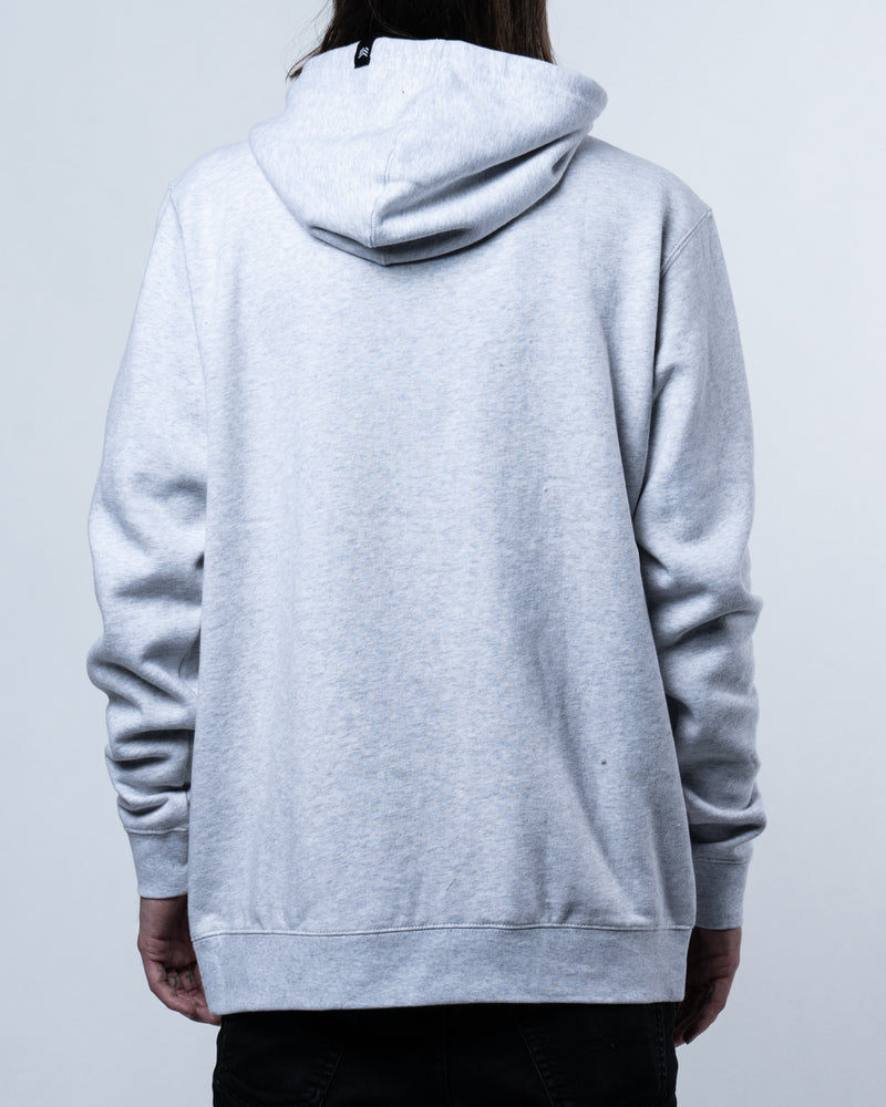 Script Hoodie Heather White