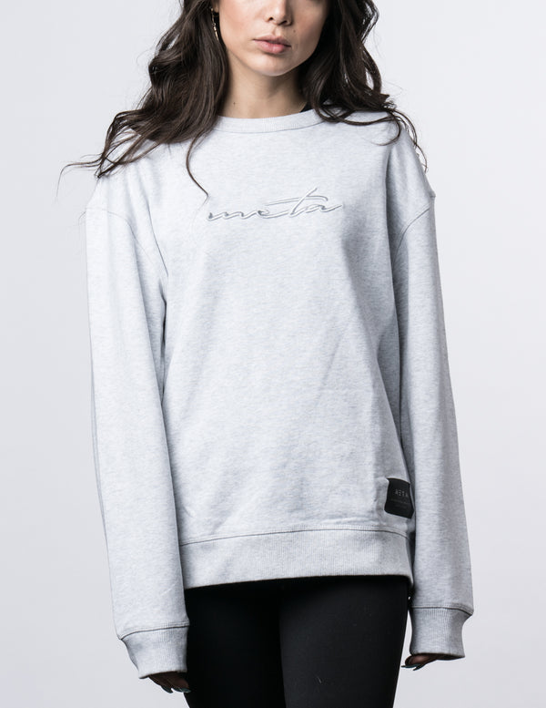 Women's Script Sweater Heather Gray