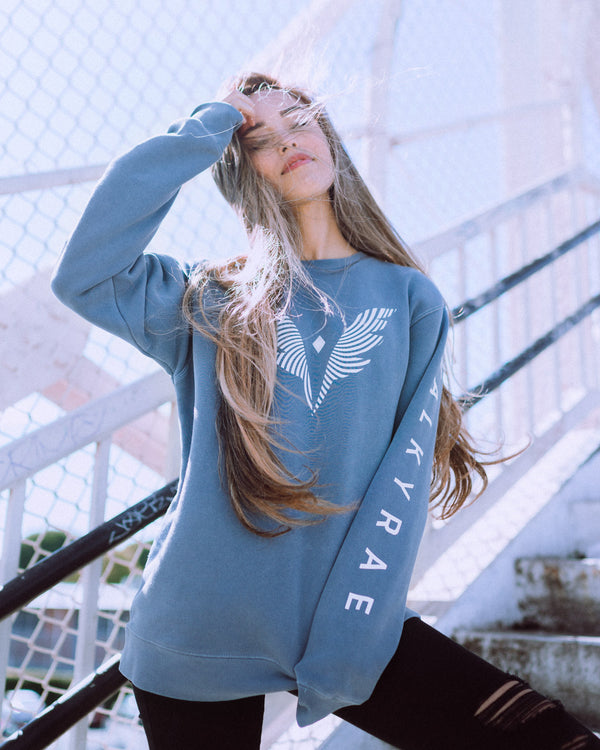 Valkyrae V Wing Crew Sweater
