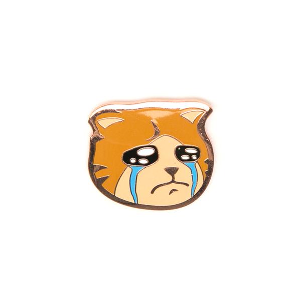 Sad Cat Pin