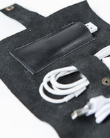 Modular Leather Roll Bag