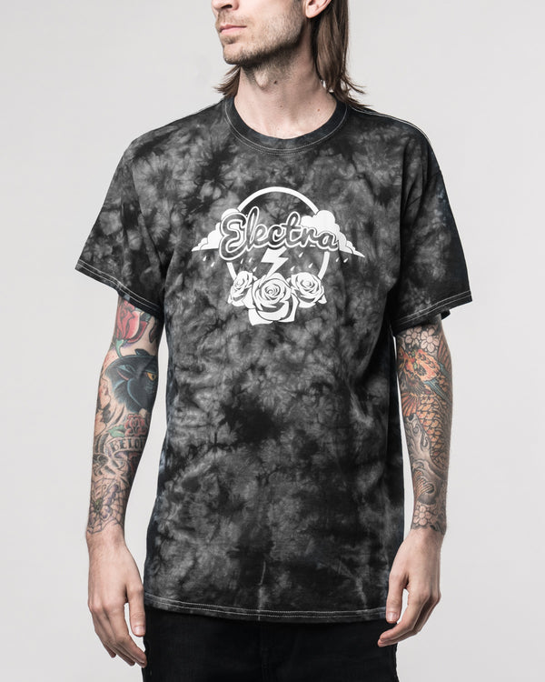 Electra Black Crystal Dyed Tee