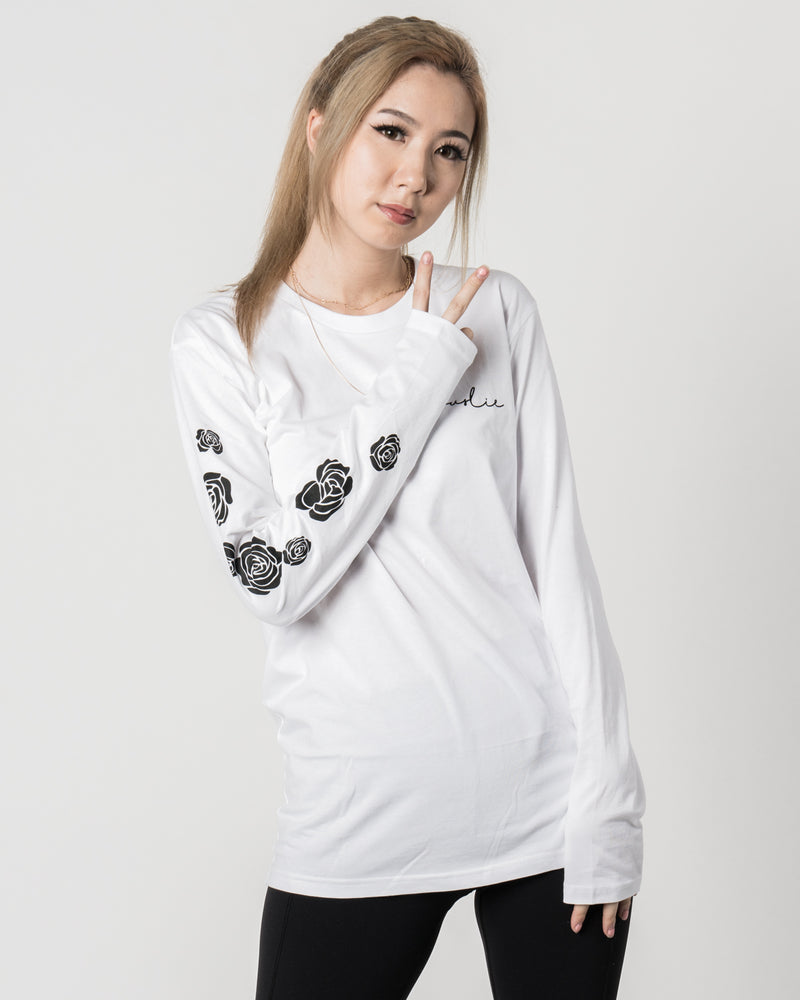 Fuslie Long Sleeve White Floral