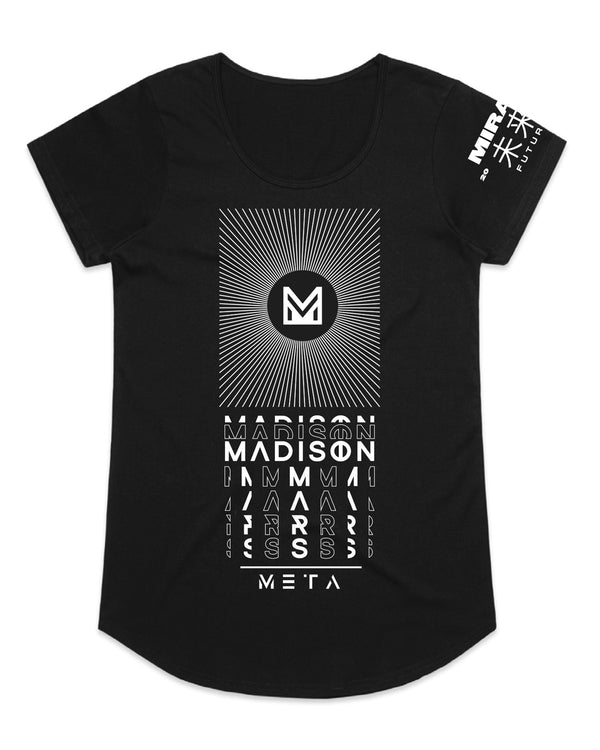 Madison Mars Female Black Tee