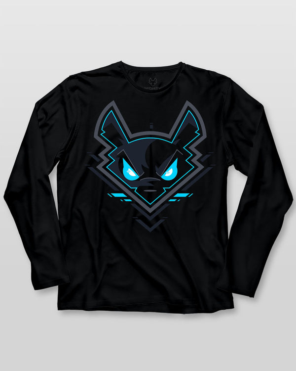 Mighty Mouse Black Long sleeve Tee