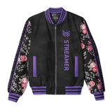 "n00blet ""Purple Blossom"" Bomber Jacket - Streamer Edition"