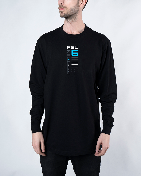 Pengu PGU-6 Long Sleeve Black Tee
