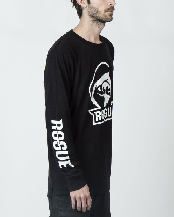 "Rogue ""Logo"" Long Sleeve Black Tee"