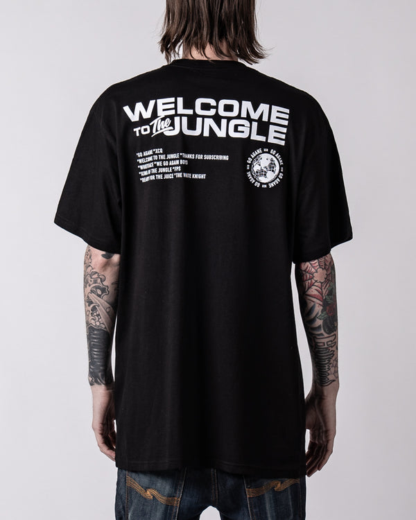 XQC JUNGLE Premium Black Tee