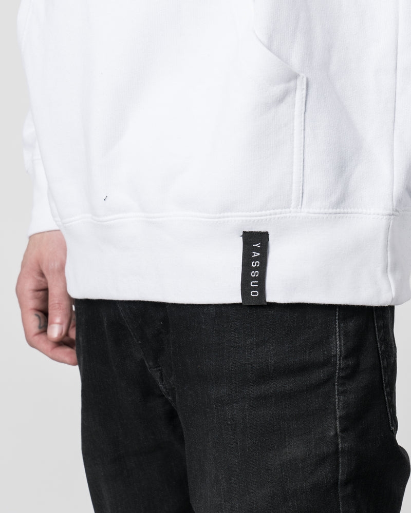 "Yassuo ""Tempest Steel"" White Hoodie"