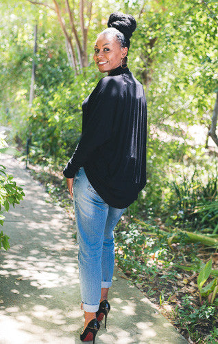 Nursing Cardigan - Long Sleeve/Black