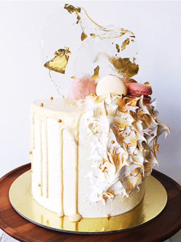 Golden Marshmallow Cake