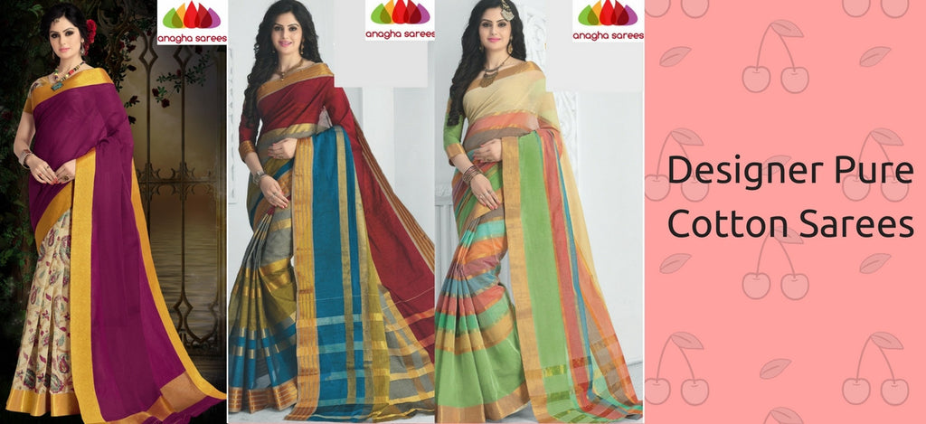Anagha Sarees Pure Cotton Collection